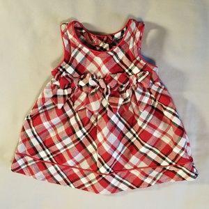 Youngland plaid Christmas holiday bow dress